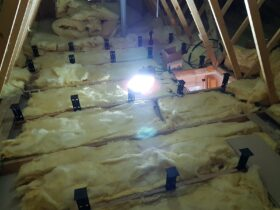 Loft Leg System during installation