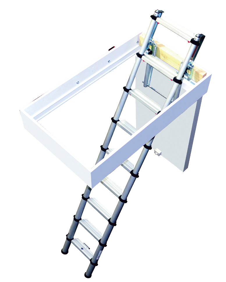 Youngman telescopic aluminium loft ladder heavy-duty